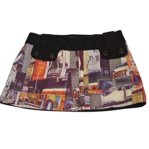 Custo Barcelona Blue Tower Mini Skirt